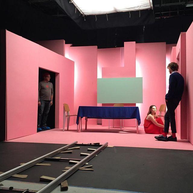 image: Waiting for the next shot ? #onset #setlife #pink #coeurdepirate by valleeduhamel