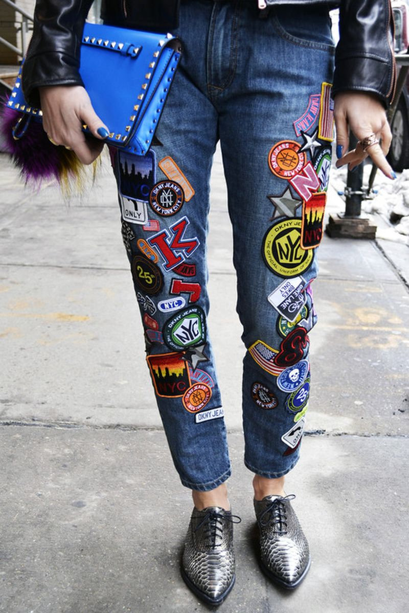 image: badge-adorned DKNY Jeans by campbell