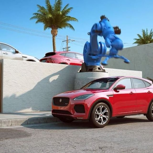 image: A collage of my work with @jaguar and @foxtrotpapaldn on the new E-Pace. #EPACE #jaguar #animation #fun by chrislabrooy