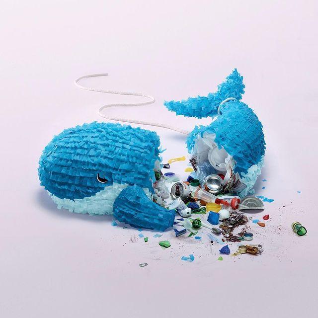 "image: Ian Langohr @hand.sewn.heads - Piñata (foam/tissue paper/garbage) [created for ""Jour de la Terre Campaign"" 2014] #ianlangohr  www.ianlangohr.com Client: Jour de la Terre, Québec Agency: Sid Lee @sidlee_official Copywriter: Guillaume...Art... by durmoosh"