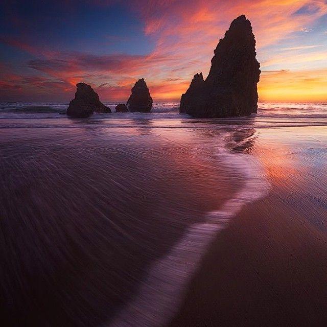 image: Pacific coast sunset.  by michael_shainblum
