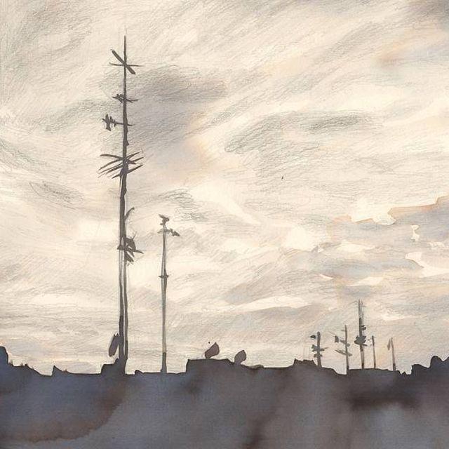 image: ... #illustration #finalart #drawing #working #arte #magia #magic #cielo #sky #nubes #ciudad #amanecer  #ilustracion #dibujo #art #lapiz #parker #ink #pencil #paper #papel #estudio #desk #studio #artist #barcelona  #diegoojeda #elisaancori by elisaancori