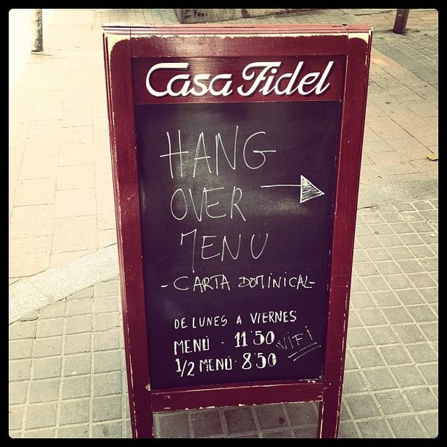 "image: HanG Over Menu: ""Casa Fidel"" by james"