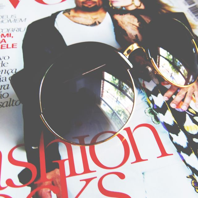 image: Another angle... Round sunglasses and fashion magazines by joy