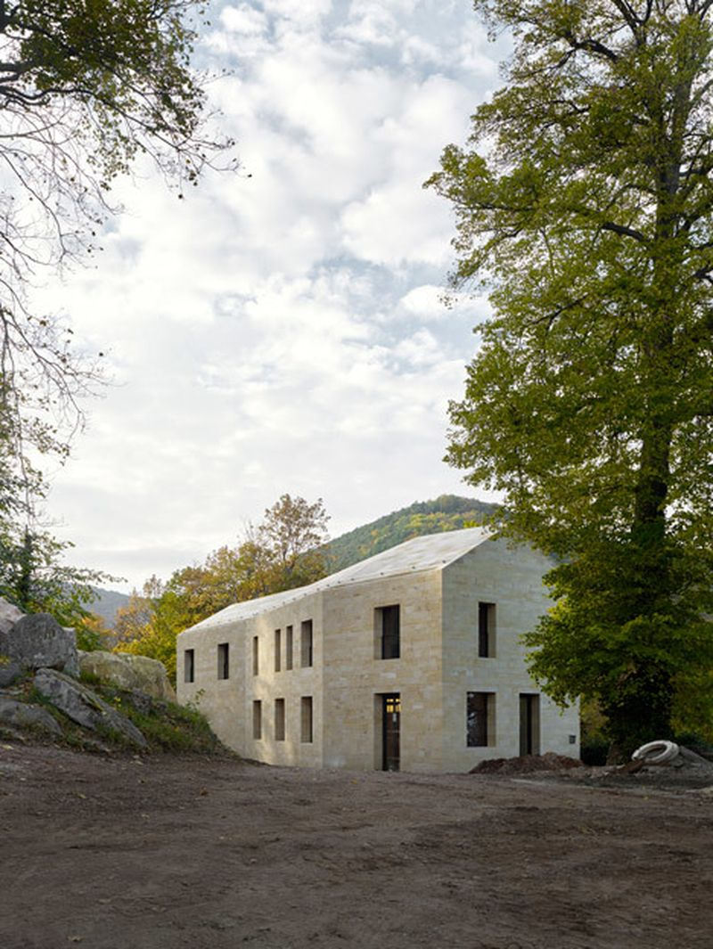 image: Max Dudler adds sandstone entrance building to Hamba... by waryamaranth