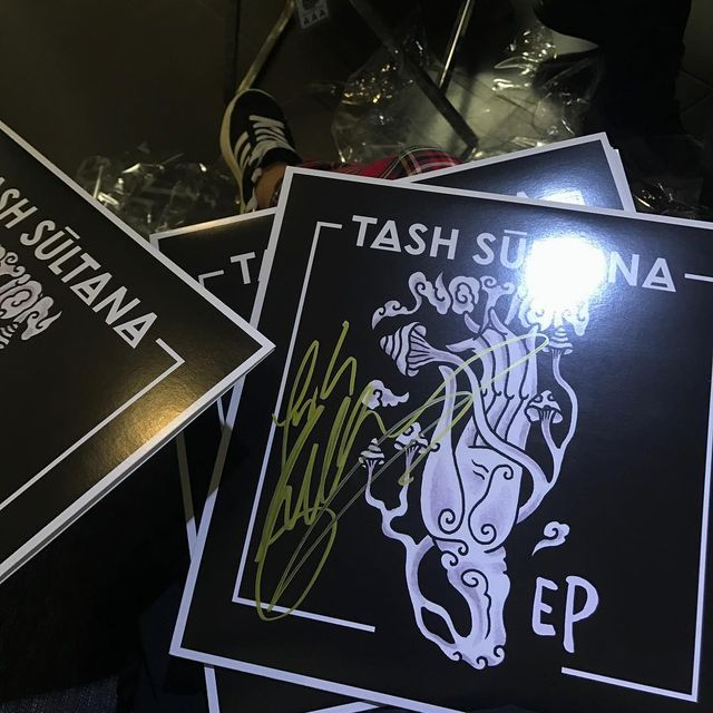 image: Signed a bunch of vinyls for tonight's show in Mexico ?? grab them at the merch... by tashsultanaofficial