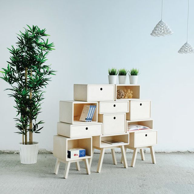 image: Rianne Koens' stackable drawers function as cabinets... by hallowedbronze