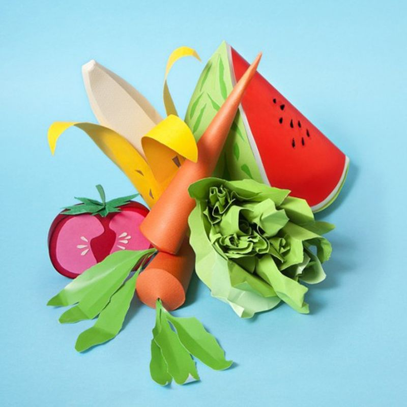 image: Paper Craft Sculptures Of Food by andreagenova