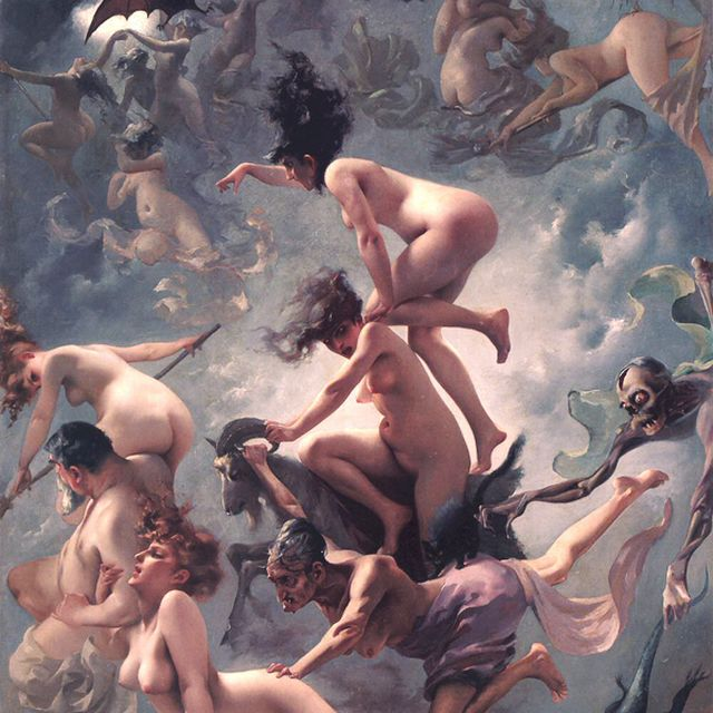 "image: Luis Ricardo Falero ""Departure of the witches"" by trendtwins"