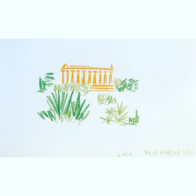 image: Tempio della Concordia, drawn in 2 , 5 and 10... by mariacorte