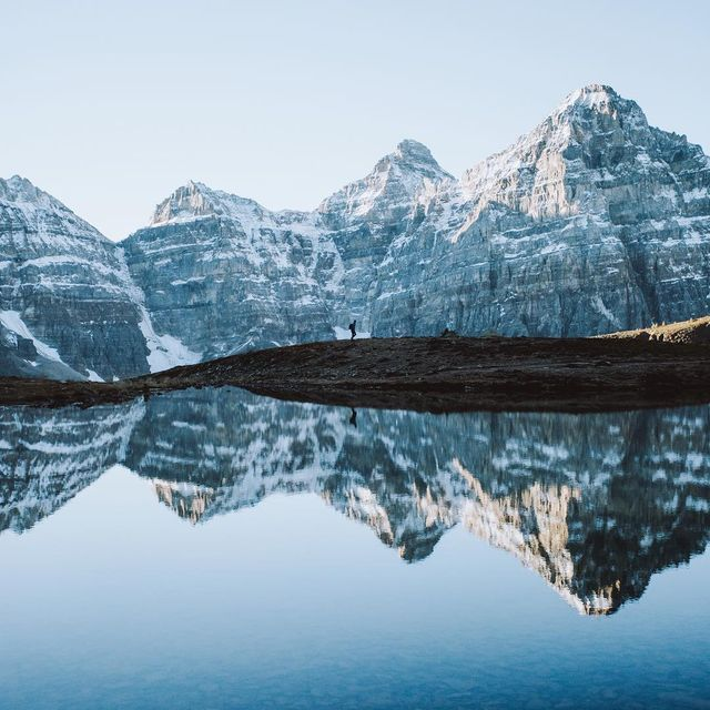 image: Sunrise in Banff National Park. by cameronleeanderson