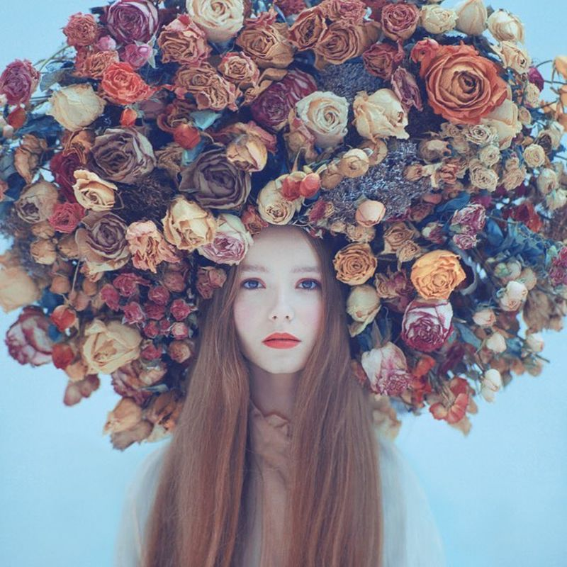 image: Girl with flowers by oprisco