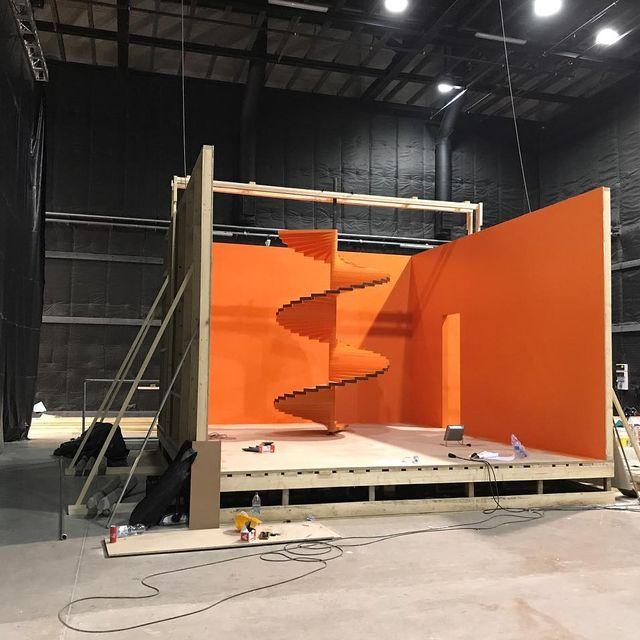image: Set in the making ? #onset #budapest #orange #setlife by valleeduhamel