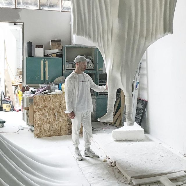 image: This is one of the smaller works in process for my exhibition at VDNH in Moscow this Fall. by danielarsham