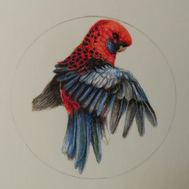 image: Miniature. Watercolor by anaminum