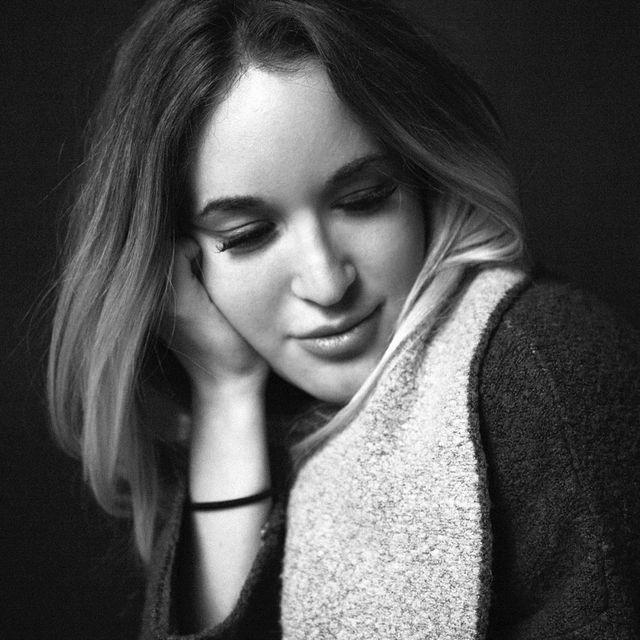image: simple portrait of @kitti.kugyelka by floraborsi