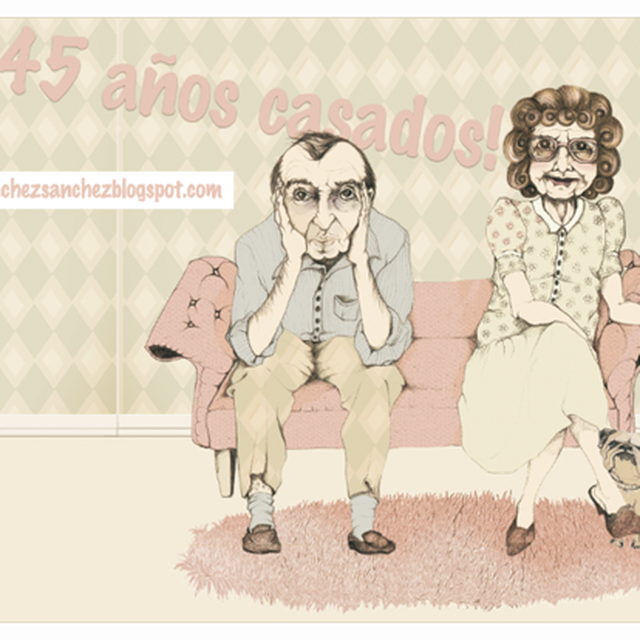 image: 45 years married!, And Valentine's morning ... on Be... by ilustracionescecilia