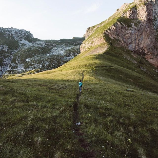 image: Hiking up the trail that starts at the end of the highest road in the country. Gotta love some easy elevation. #ifeelsLOVEnia @feelslovenia by itsbigben