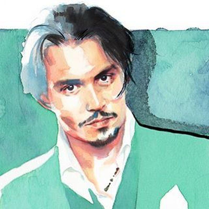 image: Detail of Mr. Depp's portrait for @voguespain by chidywayne