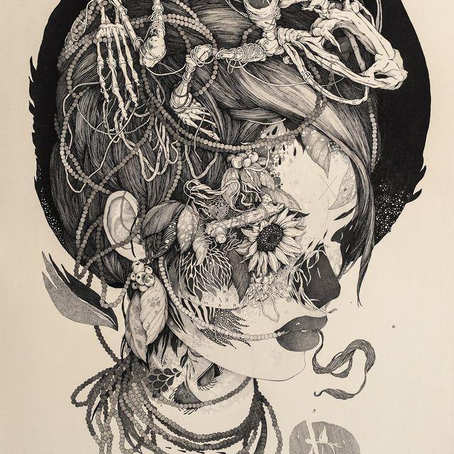 image: Sprawling Tattoo-Inspired Ink by jenniferasos