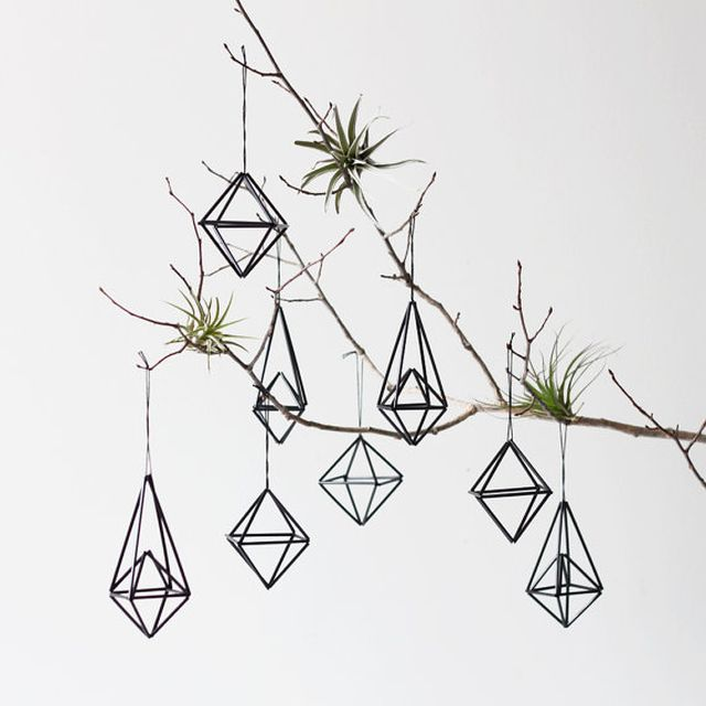 image: Himmeli Ornament set of 8 / Modern Hanging Mobile / ... by danielestheras