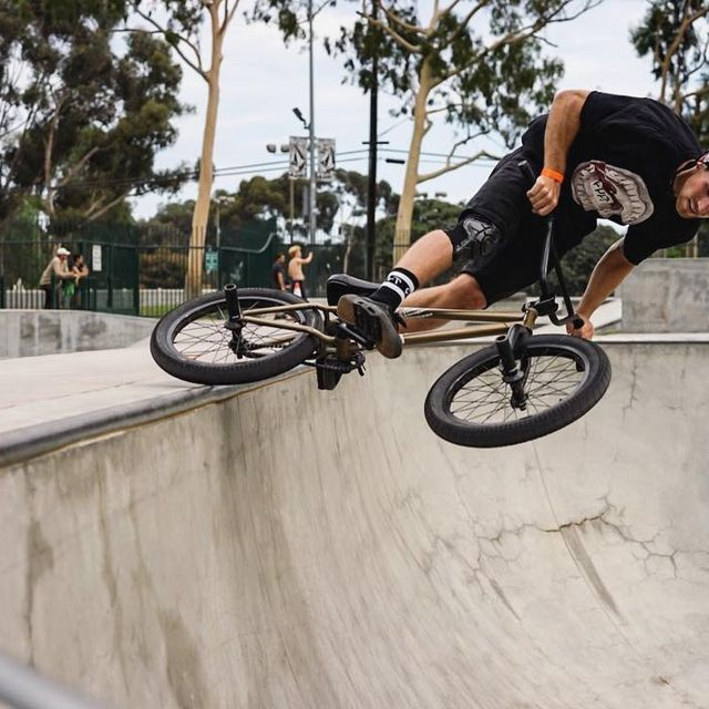 image: Been nursing a little knee thing the past couple weeks, but luckily have been able to sneak in some chill laps. Lipslide ? @darden4130. @cultcrew @maderabmx @vansbmx66 @meserollshop by danfoley