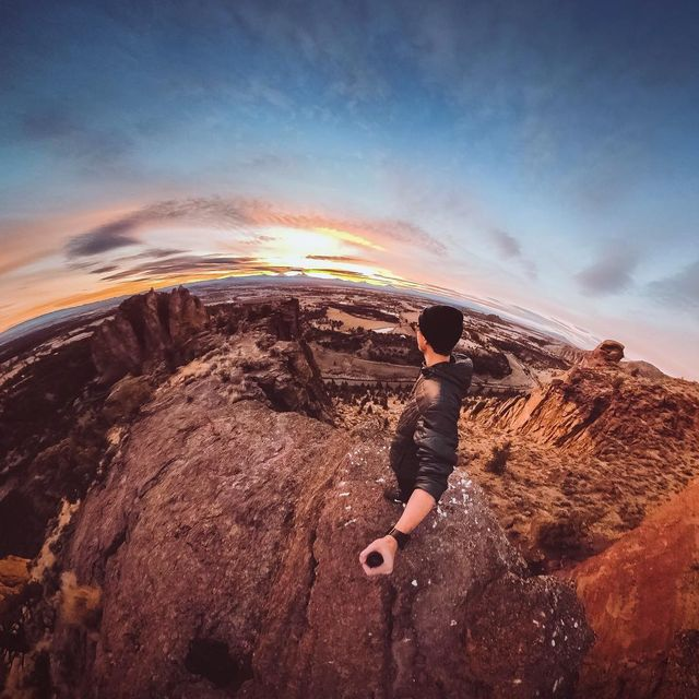 image: Sunset view spot from one of my favorite places in Oregon! If you know this spot, you know ? #GoProFusion by kyleohlson