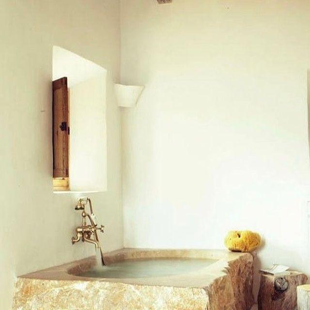image: limestone bath ☁️ by la_finca
