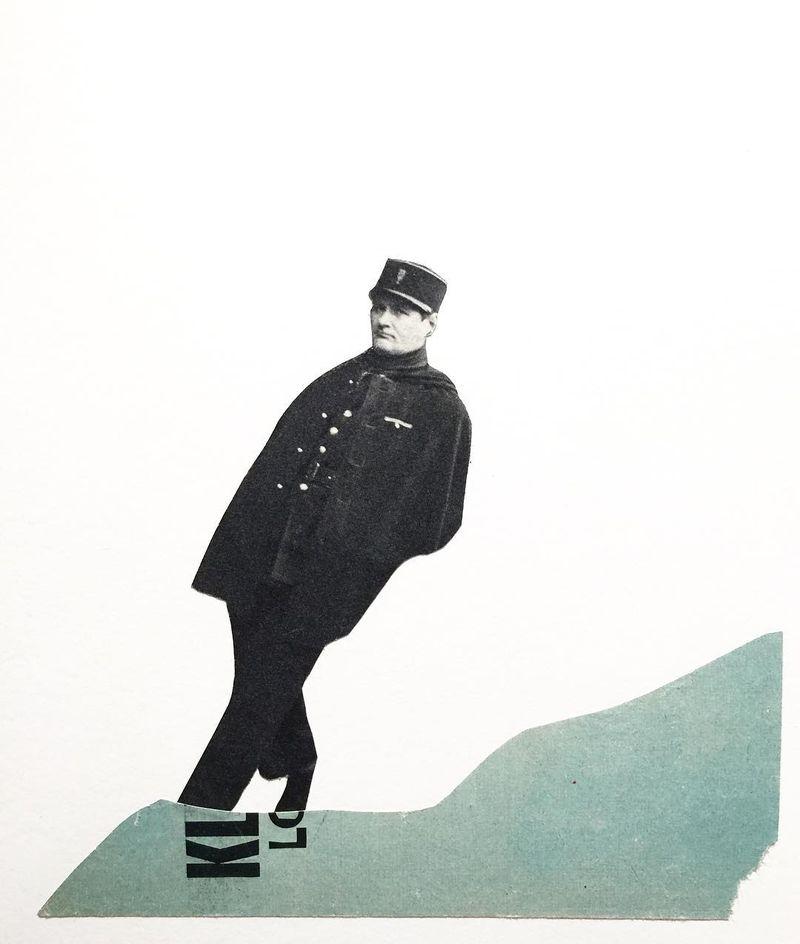 image: Keep on walking / Analog collage on...#collageart  #collage_guild #cutandpaste #analogcollage #minimalistart #collagecollectiveco #handcutpaper #taidekollaasi  #taide #collageoftheday #photography #analogcollagecommune  #surrealart #finnishartist #c_e by vintageart_originals