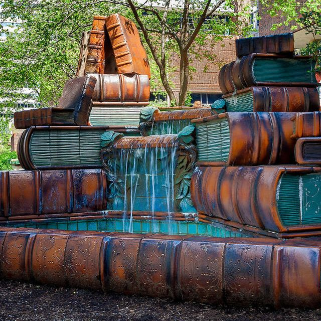 image: A Book Fountain by neverdiscrete