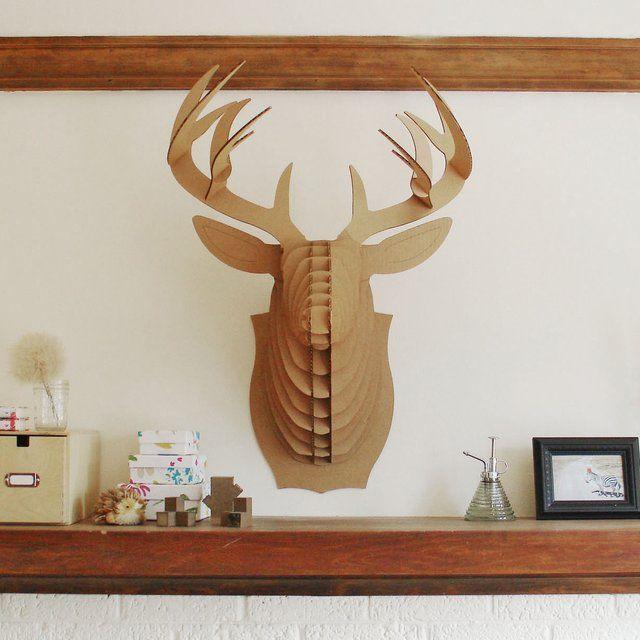 image: Giant Cardboard Deer Trophy by rmuinelo
