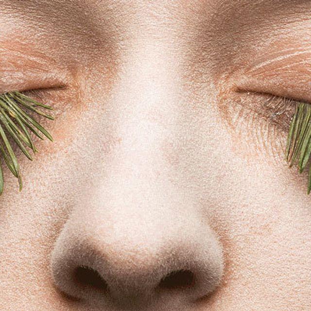 image: mary graham fake eyelashes with foliage by andreagenova