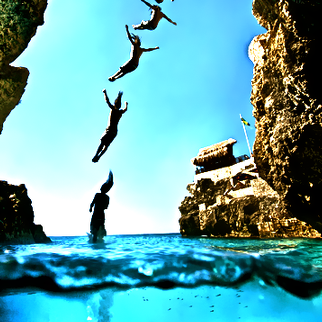image: CLIFF DIVING IN JAMAICA by july-leski