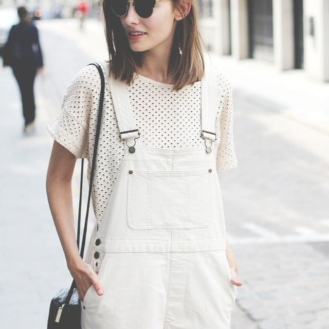 image: white playsuit by modernghosts