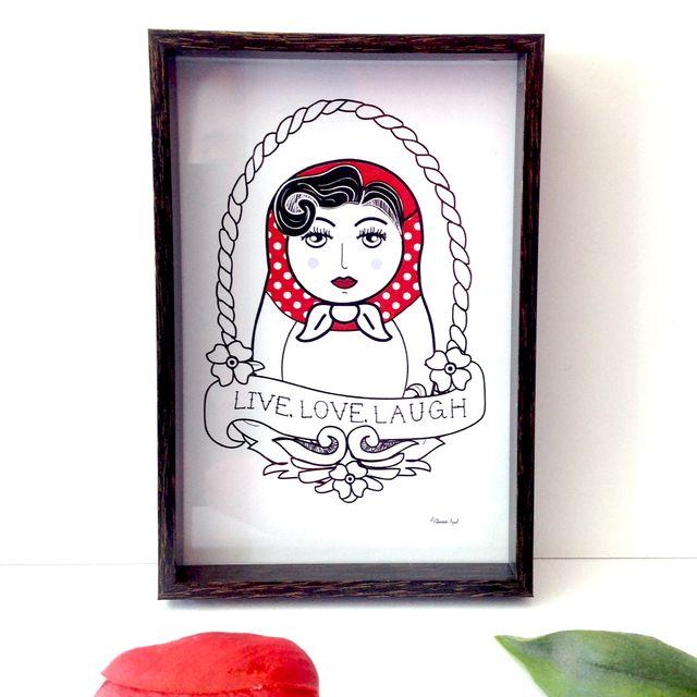 image: Matrioska Pin up by el-flamenco-azul