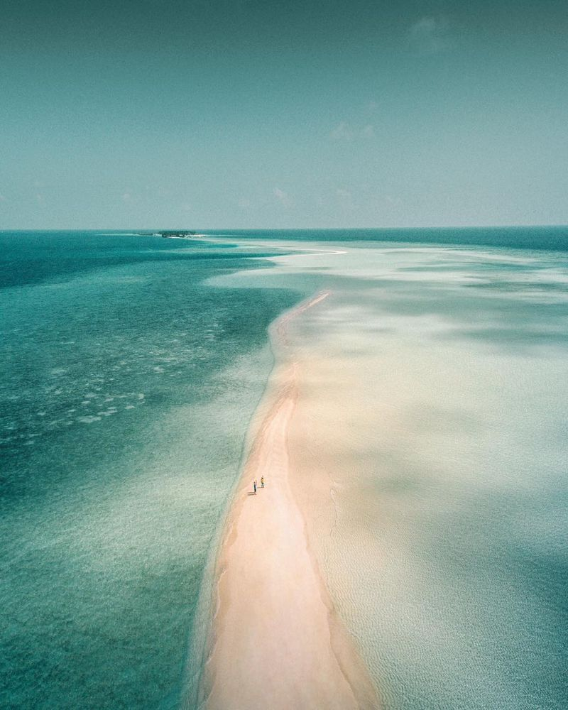 image: Walking on the sandbank into the endless turquoise ocean ? by iwwm
