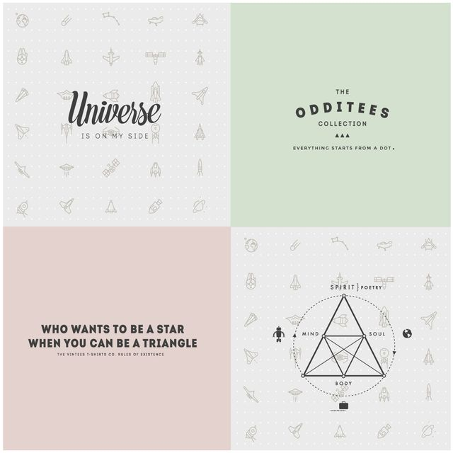 image: The Odditees Collection by The Vintees T-Shirts Co. by thevintees