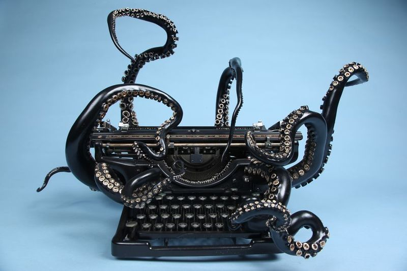 image: Turning an Old Typewriter Into An Octopus by neverdiscrete