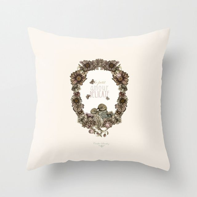 image: le petit, amour, délicate Throw Pillow by Cecilia Sá... by ilustracionescecilia