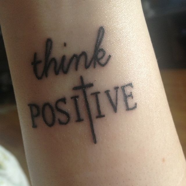 image: think positive by modernghosts