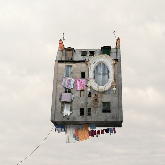 image: Flying Houses by Laurent Chehere by wackynavyblue