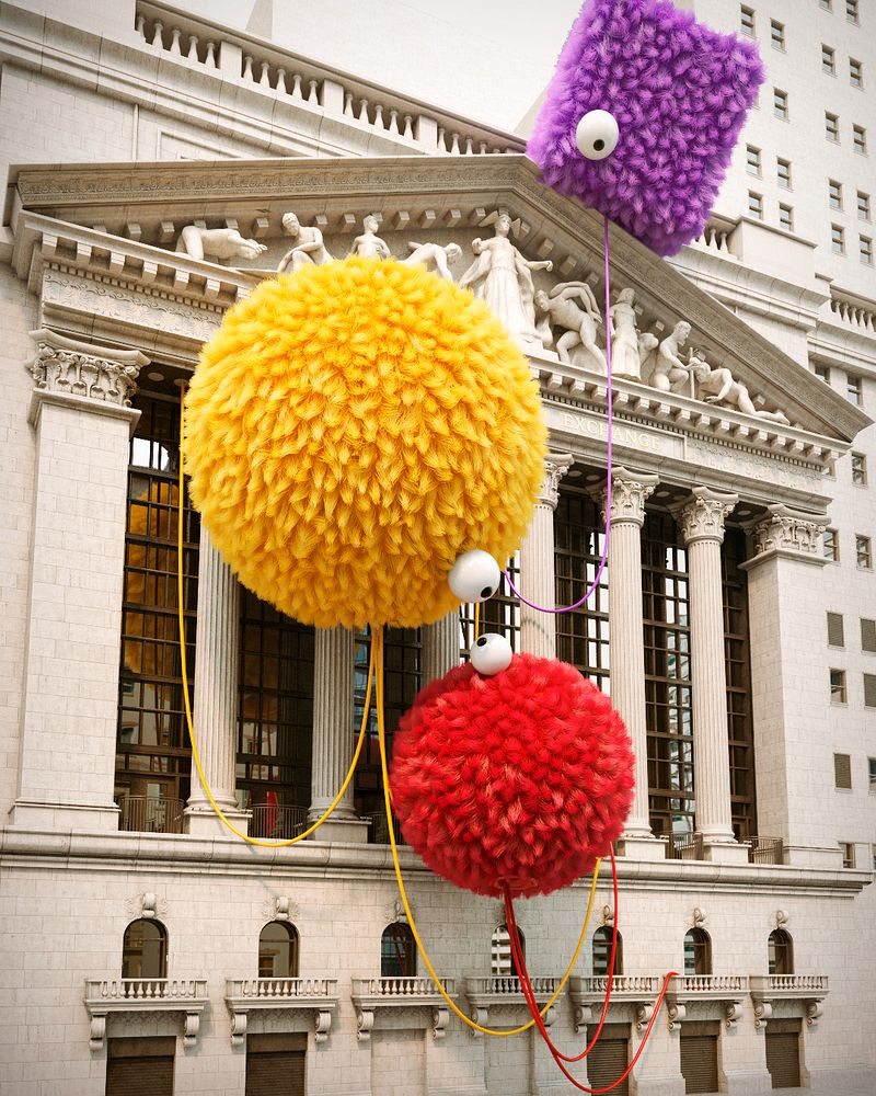 image: Sesame Street VS Wall Street.  by chrislabrooy