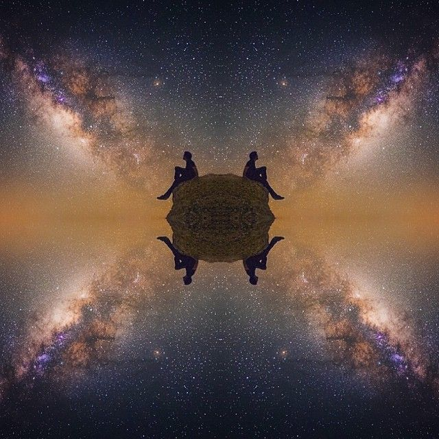 image: I played around with Mirroring some Milky Way shots ... by michael_shainblum