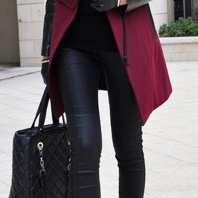 image: burgundy coat by anicorona