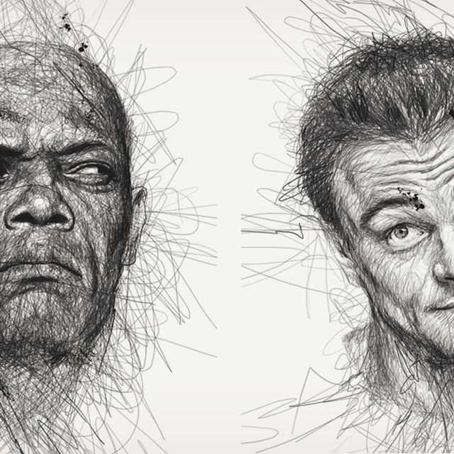 """image: """"Faces"""" Scribble Portraits by aidahulton"""