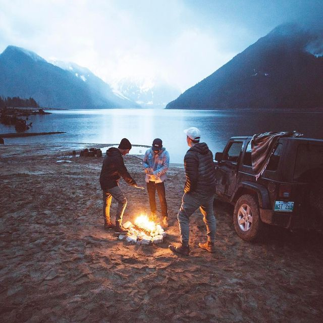 image: Good friends and campfires: the way we used to live before the fire ban. Now we just text each other from our couches. Just kidding, we hike and work and forget to sleep, spend way too much time driving and talking about where we're going to go next. by itsbigben