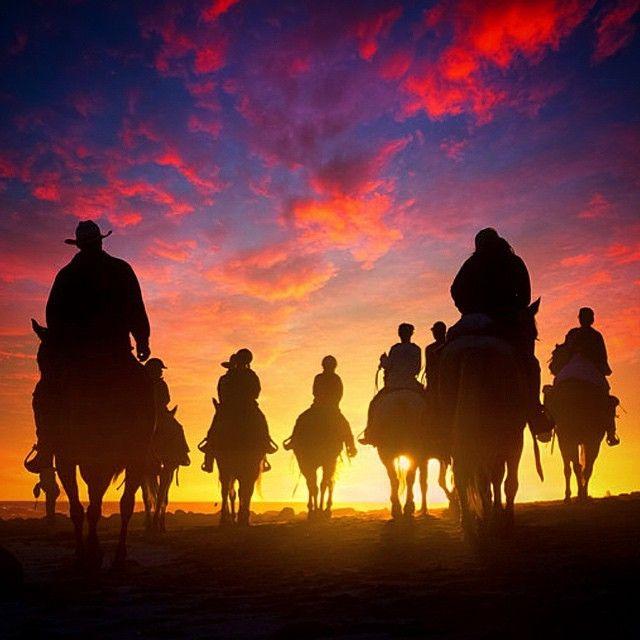 image: Riders into the Sunset#rinconbeach  Happy Holidays! by michael_shainblum