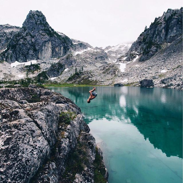 image: Different lake, different mountain, different cliff, same gainer.  by zakhale