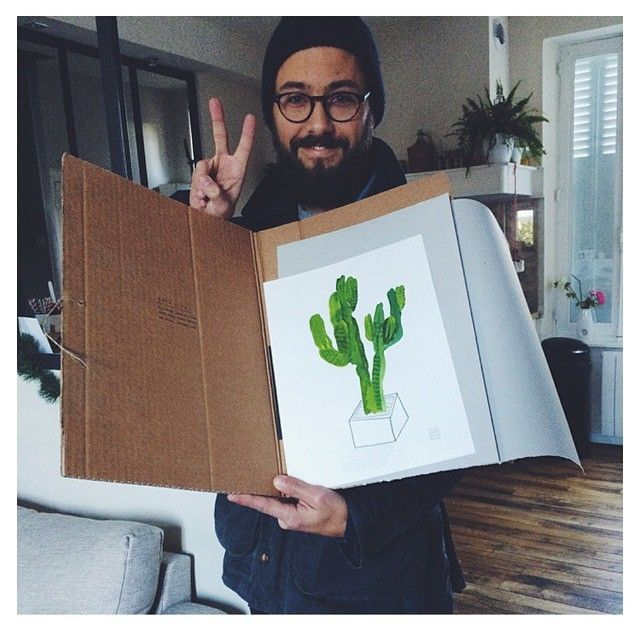 image: @secos with his Cactus from Botanical collection! Th... by little_isdrawing