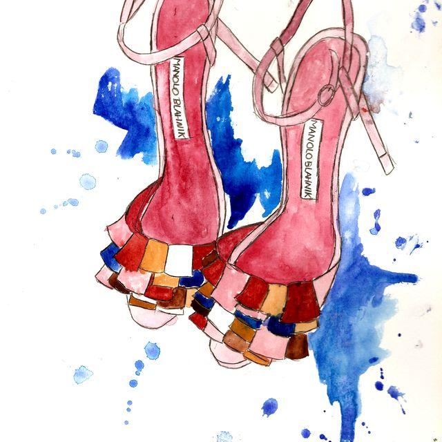 image: Sketching Manolo Blahnik by vanessadatorre